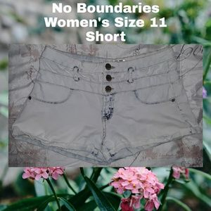 No Boundaries Denim Jean Short | 11 | White